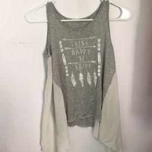 """Tjmaxx """"think happy be happy"""" shirt"""